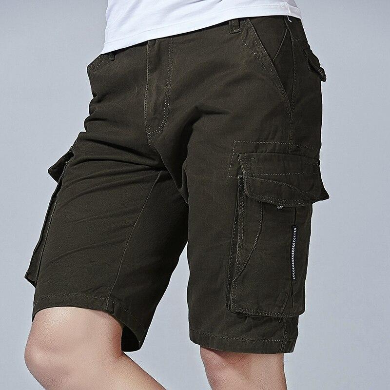Summer New Camo Cargo Shorts Mens Casual Shorts Male Loose Work Shorts Pocket Man Military Short Pants
