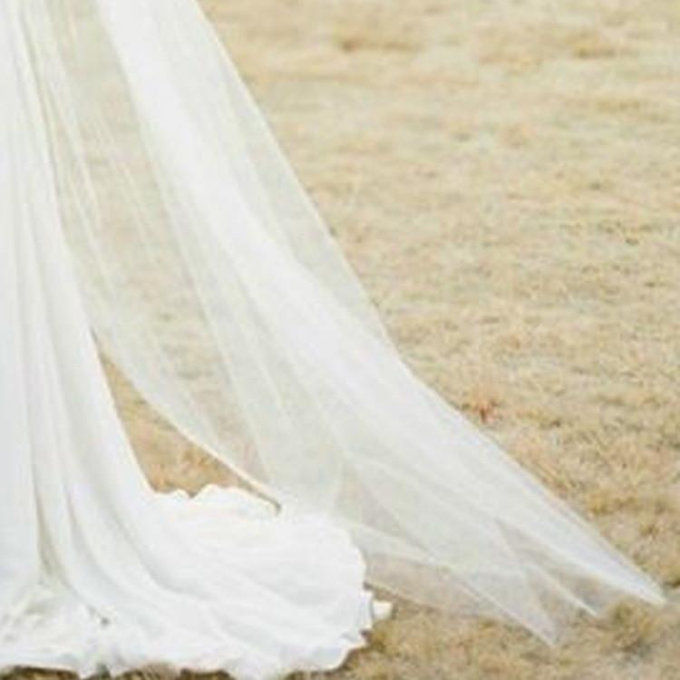 2M Elegant wedding veils bride 1 layers Bridal Wedding veil Accessories