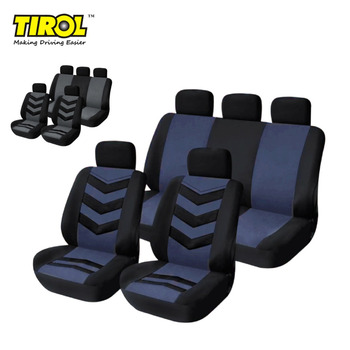 TIROL T22552a Breathable Universal Car Seat Cover Black Gray/Blue 9 Pcs Seat Covers For Crossovers SUV Sedans Free Shipping фото