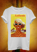 California Sexy Girl Retro Funny Men Women Unisex T Shirt  Top Vest 433 Hot Sell 2018 Fashion Short Sleeve Tricolor