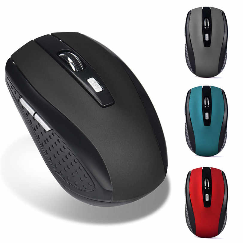 2.4 GHZ Wireless Gaming Mouse 6 Tombol USB Receiver Pro Gamer Mouse untuk PC Laptop Desktop Profesional Mouse Komputer J03T