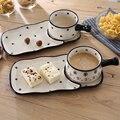 China Pastelería Pastel De Cerámica Y Platos de Porcelana Bandeja De La Fruta de Primera calidad Vajilla de Cerámica De alta calidad Para La Cena