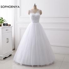 New Arrival White Ivory V Neck Cheap Wedding dresses 2019 Vestido de novia gelinlik trouwjurk Bridal