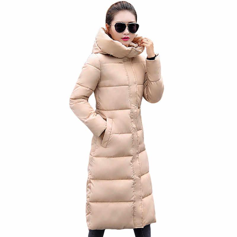8752bd2448c Модная зимняя куртка женская утепленная женская куртка хлопковое пальто  парки длинные jaqueta feminina inverno Женское пальто