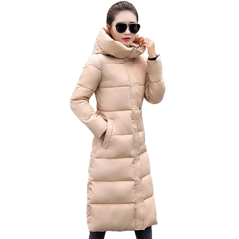 Fashion Winter Jacket Women Thicken Warm Female Jacket Cotton Coat   Parkas   Long jaqueta feminina inverno Women Hooded Coat