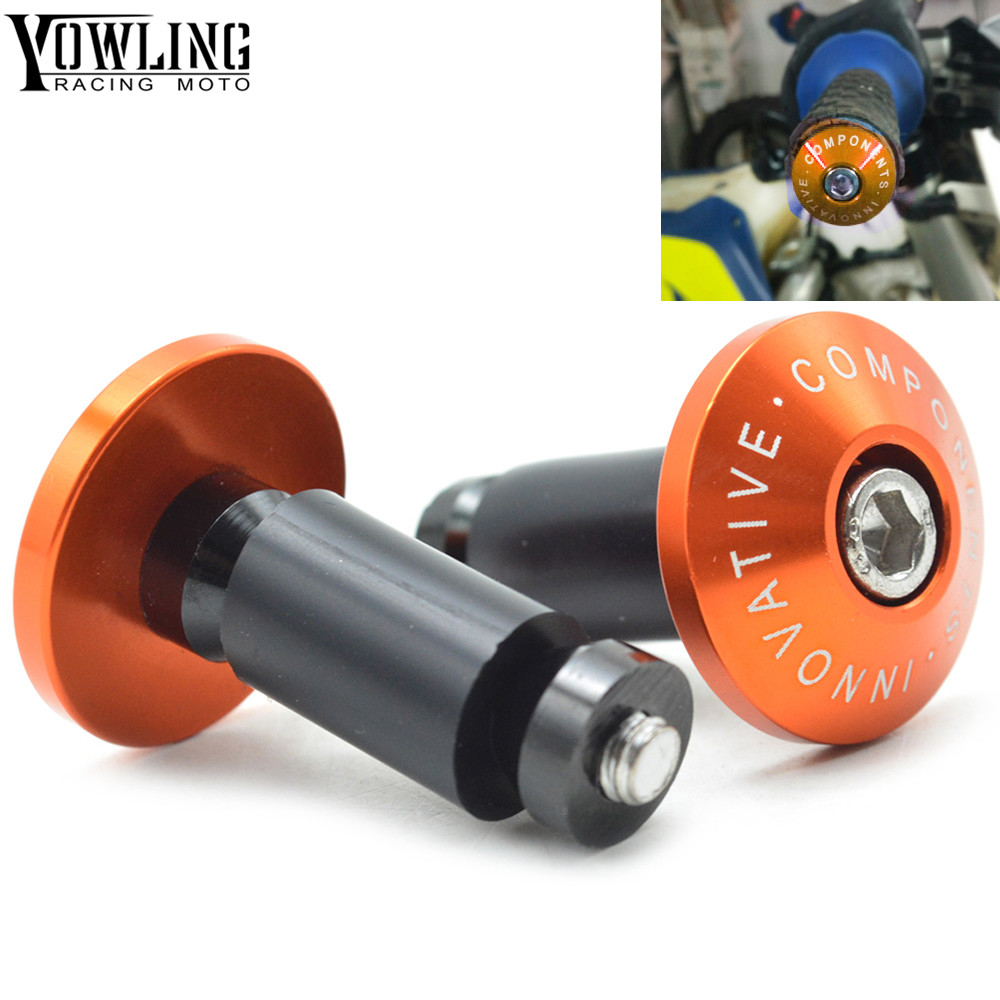 Motorcycle brush Handle bar grips ends For KTM EXC 125/250/300/450 EXC 350 450 1190 1290 990 ENDURO LC4 6mm cnc motorcycle fairing body work bolts screws for ktm 1190 r 1190 r track 1190 125 duke 125 exc sixdays