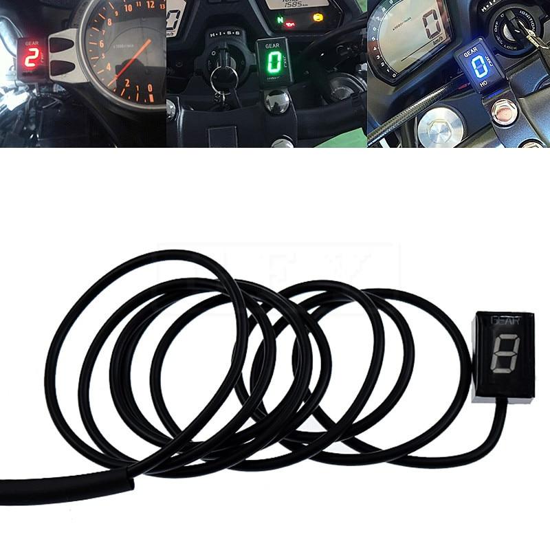 Motorcycle LCD Electronics 1 6 Level Gear Indicator Moto 6 Speed Digital Gear Meter For Honda CBR954RR CBR 954 RR 2002 2003 FI