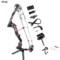 20 70lbs Archery Hunting Compound Bow Set Left Right Hand With Complete Accessories For Shooting Competition