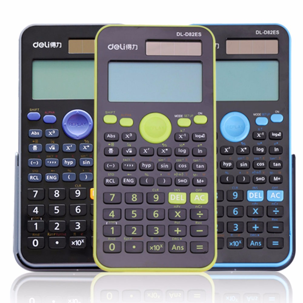 1 Pc/Pack Portable Dual-Power Plastic 12-Digital Scientific Calculator for School Stationery & Office & Finance