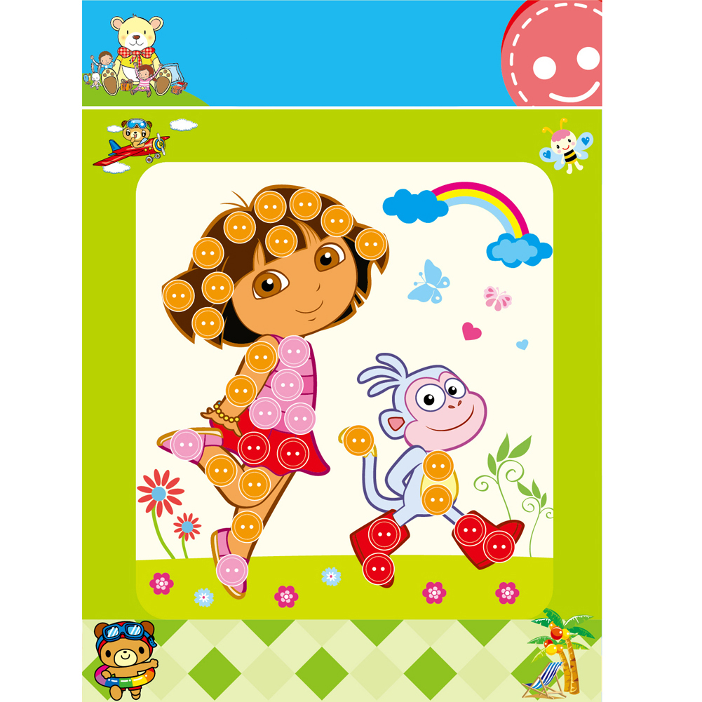 Children-Student-Learning-Educational-Drawing-Toys-Kids-Child-DIY-Button-Stickers-Picture-Handmade-Painting-Drawing-Craft-Kit-1