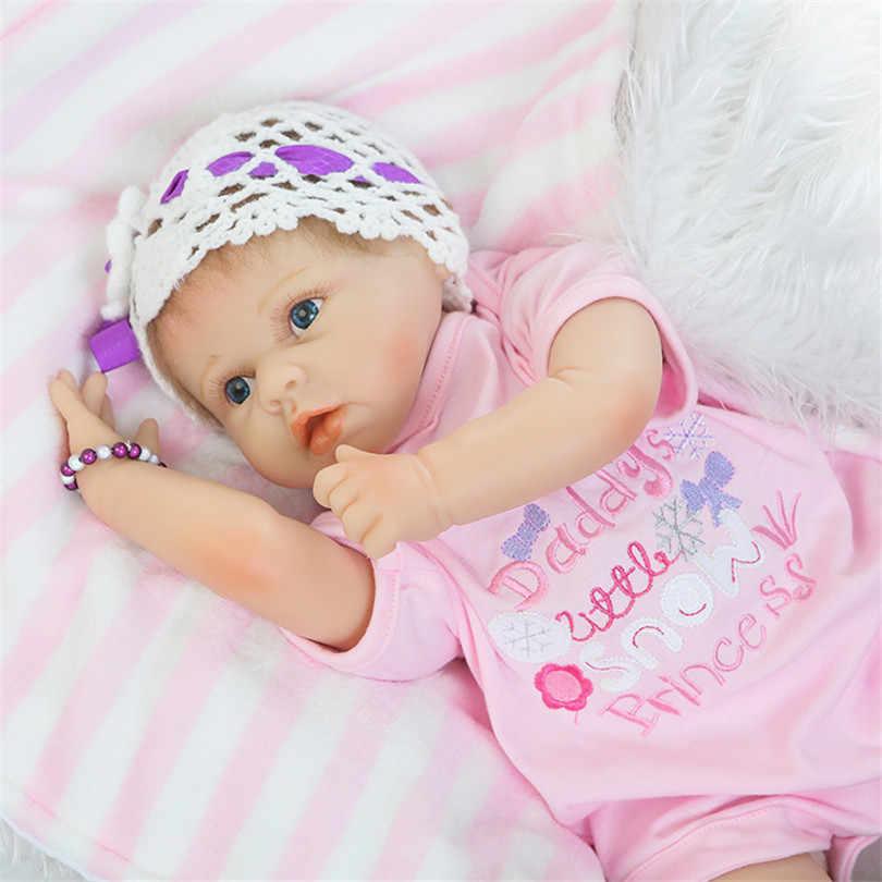 Детские куклы-модели ребенка большие голубые глаза принцесса конец-высокие подарки с розовой одеждой одеяло соска реалистичные развивающие игрушки