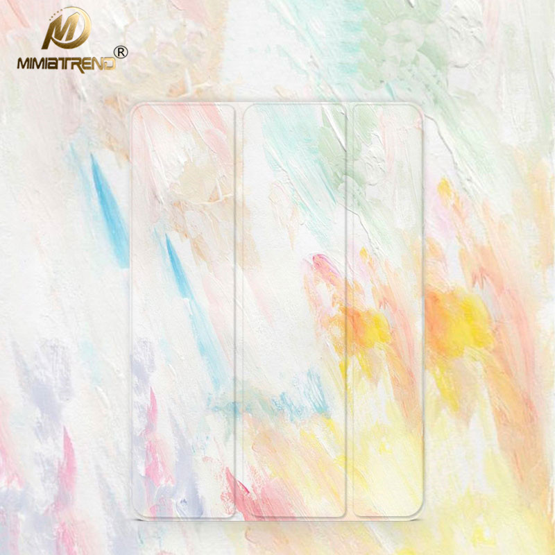 Mimiatrend Tri-fold Smart Cover Color Ultra Slim PU Transparent Back Case for iPad Pro 10.5 Air Air2 Mini 1 2 3 4 Tablet Case case for ipad pro 12 9 inch esr pu leather tri fold stand smart cover case with translucent back for ipad pro 12 9 2015 release