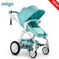 Cochecito de bebé luz del coche de bebé paraguas cochecito de bebé rueda inflable 3 en 1 cochecito babybuggy amortiguadores carro de bebé