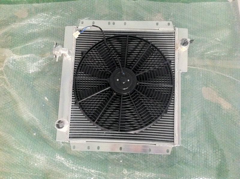 for Toyota Land Cruiser FJ40 FJ45 Petrol manual aluminum radiator brand new