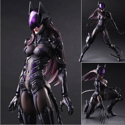 NEW hot 28cm Catwoman Batman super hero collectors action figure movable toys Christmas kids gift for chilren doll new hot 17cm captain america civil war avengers super hero movable collectors action figure toys christmas gift doll with box