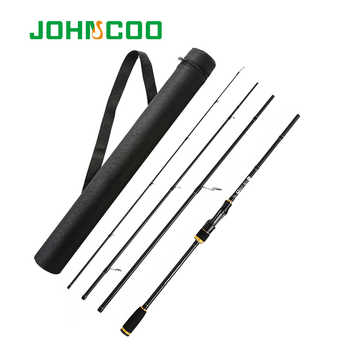 JOHNCOO Spinning Rod with Case Light weight Rod Fast Action 5-20g Casting Fishing Rod Carbon Travel Rod 4 Sections jig Rod - Category 🛒 Sports & Entertainment