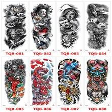 Temporary Tattoo Stickers For Men Full Body Art Arm Sleeve Tattoo 48*17CM Large Waterproof Tatoo Girl Waterproof Flash Tattoo
