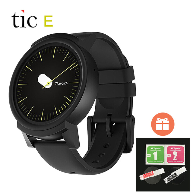 Original Ticwatch E Android Wear 2 0 GPS Smart Watch 512M/4G Google Fit  Heart rate Music Compass Smartwatch For iOS Android