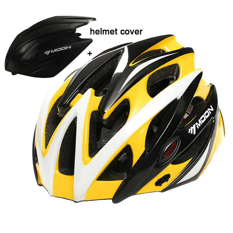 MOON Professional Road Mountain Bicycle Helmet Casco Ciclismo Cycling Helmet Integrally-molded Bike Helmet With Rain Cover moon upgrade cycling helmet road mountain mtb bike bicycle helmet with insect net 52 64cm casco ciclismo