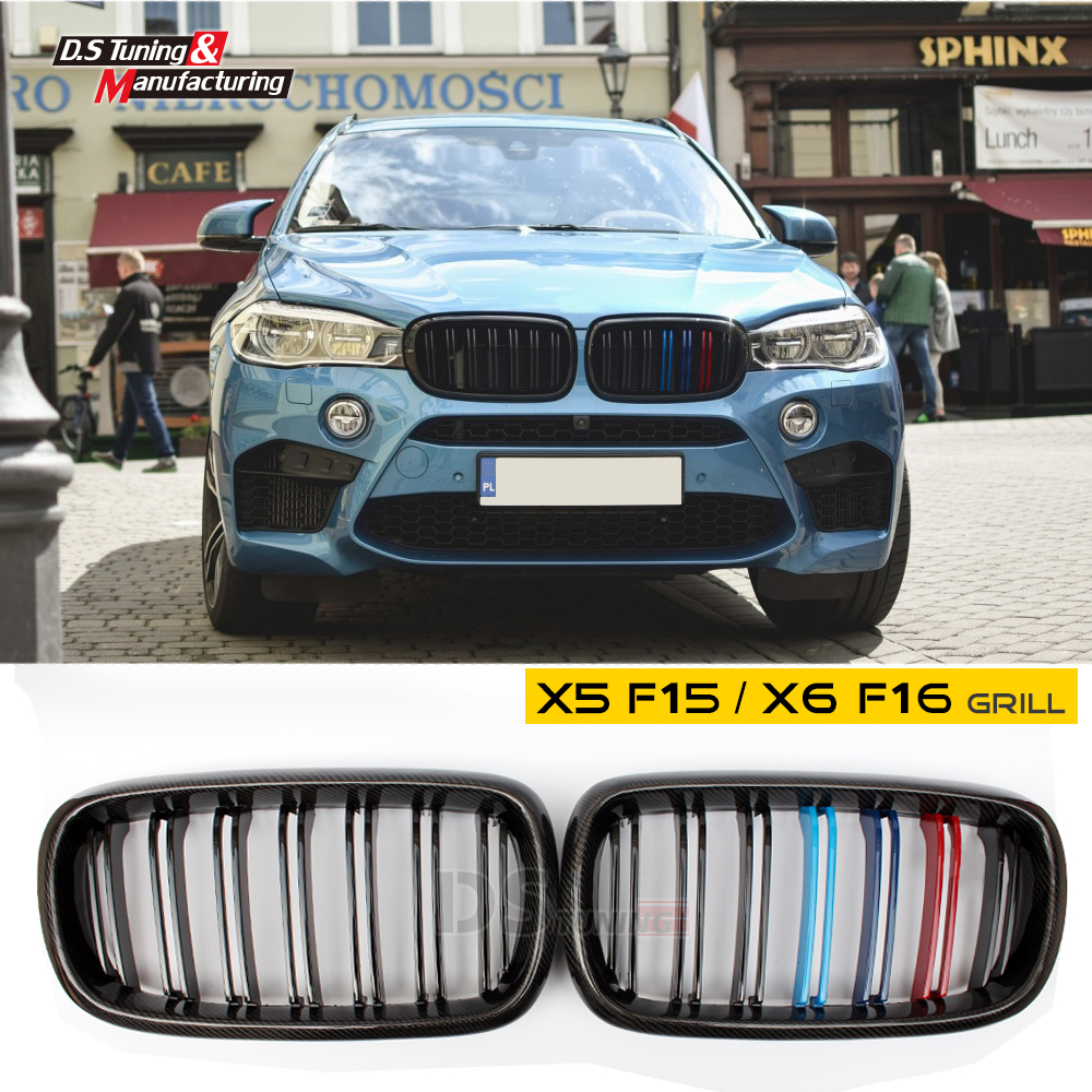 X5 x6 carbon fiber grille for bmw f15 f16 2015 2016 2017 2018 china
