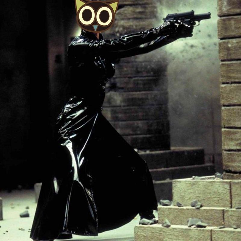 Мужской Тренч длинное дизайнерское кожаное пальто ПВХ длинный Тренч для мужчин и женщин нейтральный ночной певец Ds костюмы ветровка для мужчин