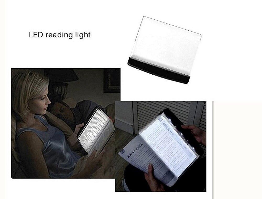 Luminosité réglable LED livre lecture lumière Plat panneau enfant étudiant nuit lecture lumière yeux lampes de protection Plat lecture lumière