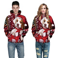 Newest Christmas Hoodies 3d Print Cute Dog Graphic Sweatshirt Happy Festival Outfits Unisex Casual Loose Pullover Tracksuit Tops