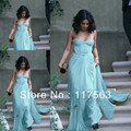 Vanessa Hudgens Baby Blue Light Blue Sweetheart Pleats Long Chiffon Celebrity Gown Evening Dress CD052