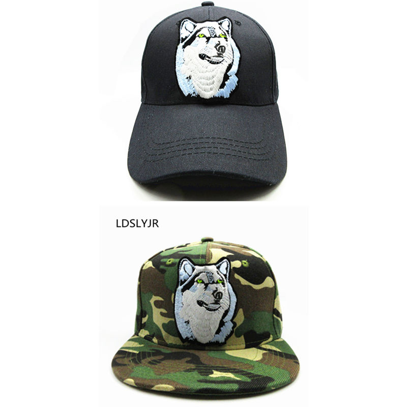 LDSLYJR 2018 Wolf embroidery cotton Baseball Cap hip-hop cap Adjustable Snapback Hats for kids and adult size 74 tropic hats mesh cap w camouflage front and visor adjustable one size