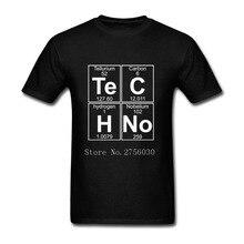 Funny Graphic T Shirts Mens Te-C-H-No techno pop music Short Sleeved Tee Shirt Round Neck Mens Hip Hop Top Tees