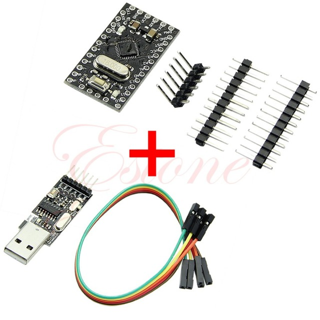 OOTDTY USB2.0 To TTL 6Pin CH340G Converter + Pro Mini Atmega328 5V 16M For Arduino