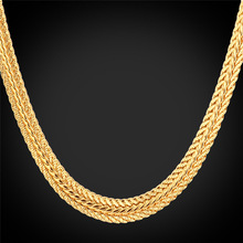 Men Chain Necklace Wholesale 6mm Foxtail Choker/Long Chain Black Gun/Platinum/Rose Gold/Yellow Gold Plated Mens Jewelry N435