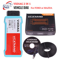 VXDIAG VCX NANO OBD2 Car Diagnostic Tool with USB/ WIFI for Ford and for Mazda 2 in 1 with IDS V112 Auto Diagnostic Tool Scanner