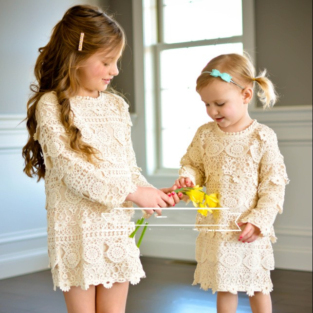 9ded0817b7f60 US $210.0 |EMS DHL Free shipping 2017 New Children's Wear Girls Autumn Wear  Long sleeveSuper beautiful lace with hollow Dress-in Dresses from Mother &  ...