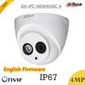 Mais novo Dahua IP Câmera 4mp DH-IPC-HDW4436C-A H.265 HD1080p IR À Prova D' Água IP67 50 m Suporte de Redução de Ruído Digital e Onvif