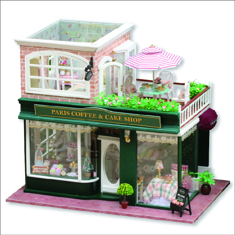 DIY Wooden House Miniaturas with Furniture DIY Miniature House Dollhouse Toys for Children Christmas and Birthday Gift A028 diy wooden house miniaturas with furniture diy miniature house dollhouse toys for children christmas and birthday gift a28