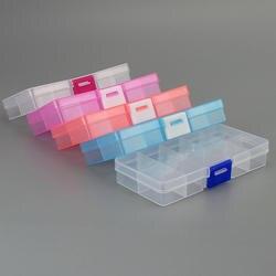 Новый 10 Слоты ячеек красочные Портативный ювелирные изделия инструмент Box контейнер кольцо электронная Запчасти винтовые шарики