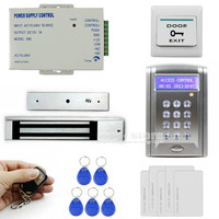 DIYSECUR Remote Control 280kg 600 LBs Kit Electric Magnetic Door Lock Access Control RFID 125KHz ID Card Security System