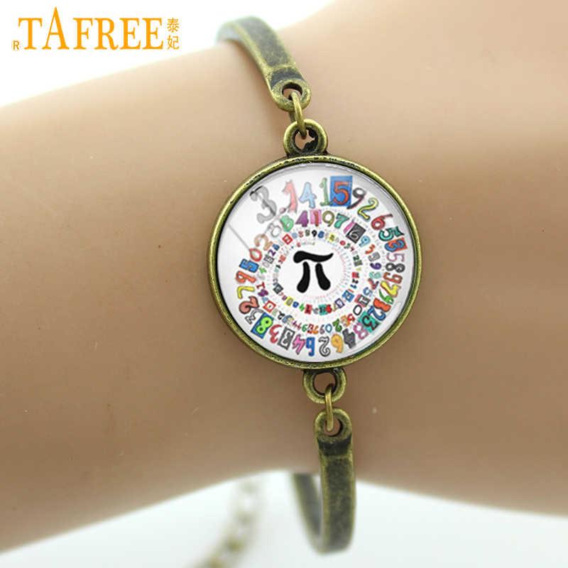 ... TAFREE Brand Mathe Pion spiral round bracelet mathematical pi symbol  charms Stop Wars Do or do ... 953cc341f9af