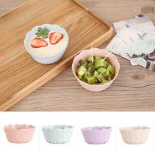 1 Pcs Mini Fruit Salad Bowl Novelty Plaid Floral Fruit Dishes Bowl Snack Tray Fruit Nut Plate Kitchen Tableware Supplies A35