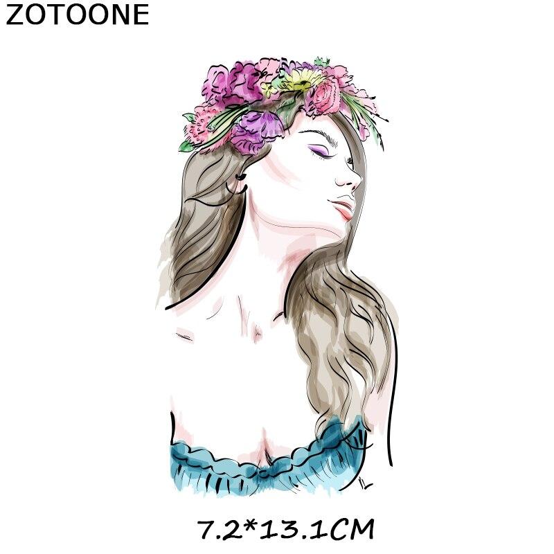"""ZOTOONE железные нашивки на одежду Diy полоски 3D аппликация """"Девочка"""" теплопередача для украшения из ткани наклейки для детей G - Цвет: 562"""