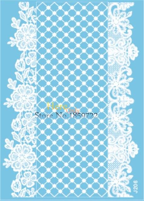 Renda Putih Pasta Tato Henna Untuk Pengantin Pernikahan Hj206 3d