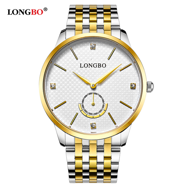 LONGBO 2017 Quartz Watch lovers Watches Men Analog Watches Leather Wristwatches