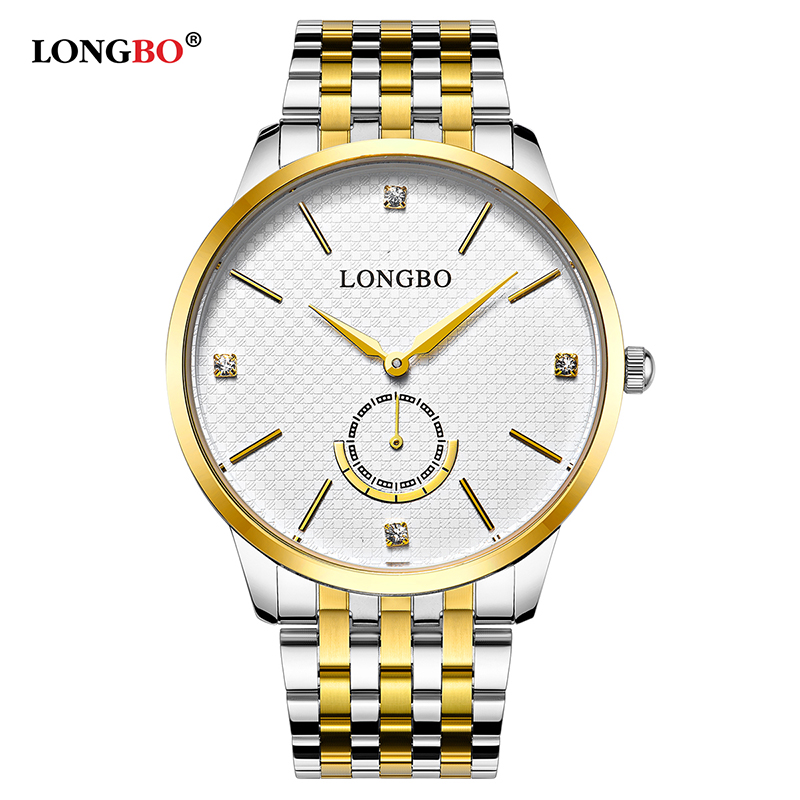 LONGBO 2020 Quartz Watch Lovers Watches Men Analog Watches Leather Wristwatches Fashion Women Gifts Couple Casual Watches 80272