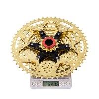 Mtb 11 velocidade ouro cassete 11s 11-50 t relação larga ultraleve roda livre de ouro mountain bike peças para gx xxx m9000 barato