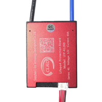 4S 45A 12.8V 14.4V 18650 LiFePO4 BMS/ lithium iron battery protection board with equalization start drill Standard/Balance