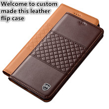 YM09 Genuine Leather Phone Bag With Card Holder For Blackberry Key2 Phone Case For Blackberry Key2 Case With Kickstand
