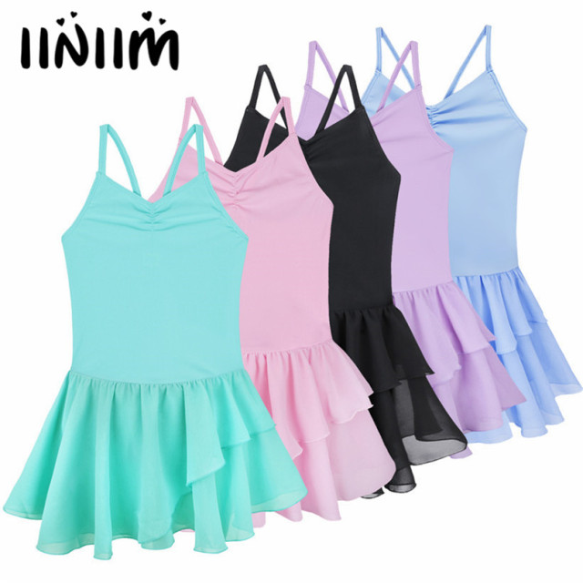 Iiniim/детская балетная одежда для подростков; платье-пачка на бретельках для балета; гимнастическое трико; платье для танцев для девочек; Одежда для танцев класса