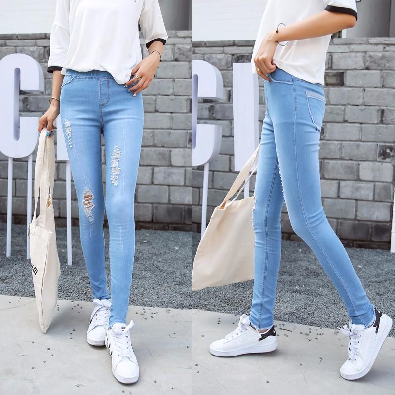 BIVIGAOS Basic Skinny Womens Jeans Ankle Pencil Pants Slim Elastic Denim Pants Jean Leggings Female Cotton Jeggings Jeans Women 57