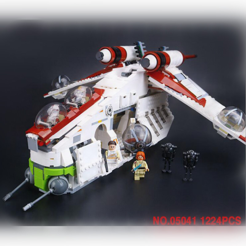 05041 alien war series 1175pcs republic gunboat fighter fight fight block building blocks educational toys birthday present